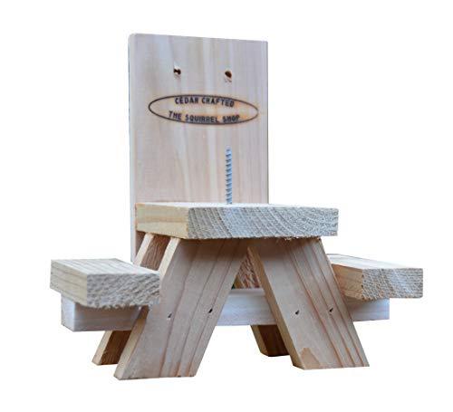 Picknicktisch Eichhörnchen-Futterstation