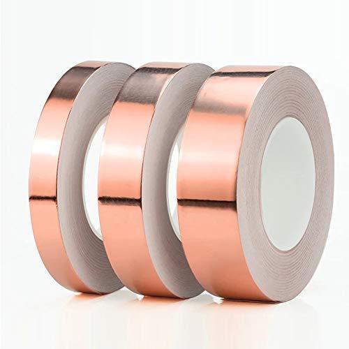 Gouen einseitiges leitfähiges Kupferfolienband KlebstoffAbschirmung hitzebeständiges ReparaturbandAntistatischesReparaturband, 20 m, 15 mm