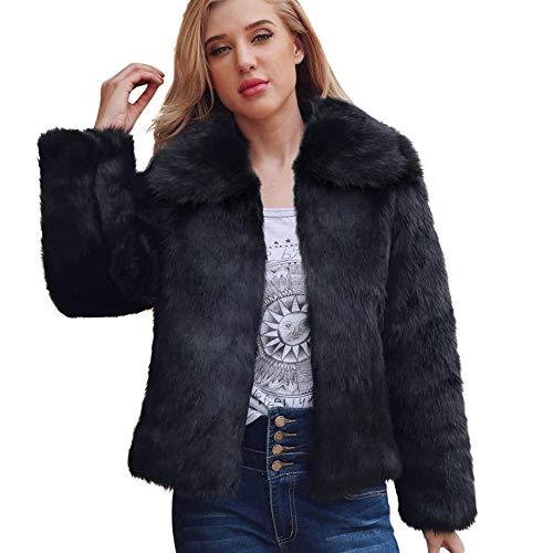 FRAUIT dames winterjas jas vrouwen wollen mantel reverskraag kunstbontmantel warme jas mode streetwear vrije tijd reizen dansfestival party kleding vesten, tops, blouse