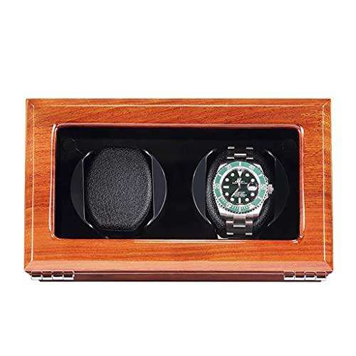 HEZHANG Watch Box Wooden Watch Watch Winder para Relojes 1/2/3/4, Caja de Relojes Mecánicos con Motor Silencioso, con 5 Modos de Configuración Caja de Rotación Mecánica de Relojes Mecánicos,B,2 + 0