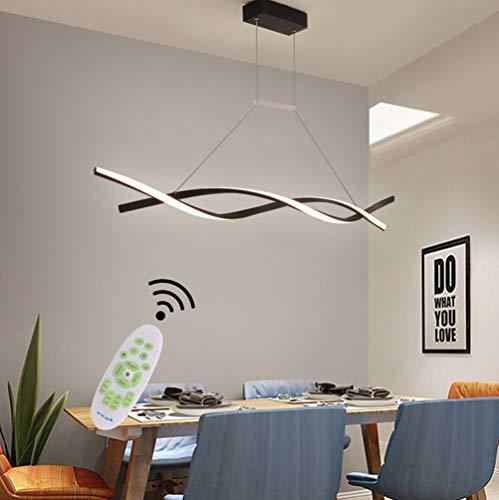 LED Lamparas de techo Modernas para Mesa de Comedor Salon Colgantes Regulable con Control Remoto Luz de Techo Espiral...