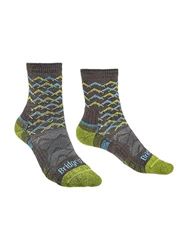 Bridgedale Damen Lightweight Ankle Height-Merino Endurance Socks Leichte Knöchelhöhe, Braun/Limette, Medium