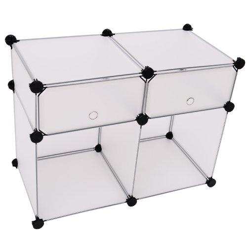 homcom 02-0334 - Armadio in plastica, Semi-Trasparente, 74 x 37 x 54 cm