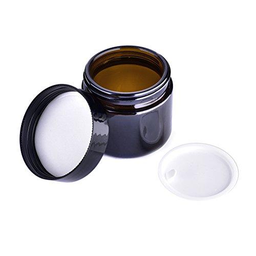Steellwingsf bouteilles en verre pour huiles essentielles, portable, bocal de maquillage en verre Pot de voyage Crème pour le visage/lotion/cosmétique Container support