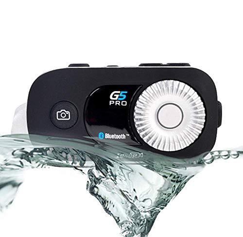 Phil Beauty Intercomunicador Bluetooth para Motocicleta Cámara De 1080P Gran Angular De 120 ° WiFi Duración De La Batería De 1800 Mah (Manos Libres/Impermeable/GPS / MP3)