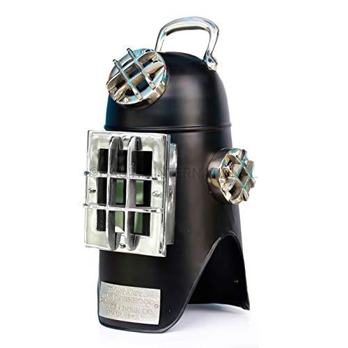 Nagina International Lebensgroße Miller Dunning Diving-Hood Qualität Vintage Old Replica Nautische Taucherhelme | Tauchausrüstung & Zubehör (Schwarzes Nickel)