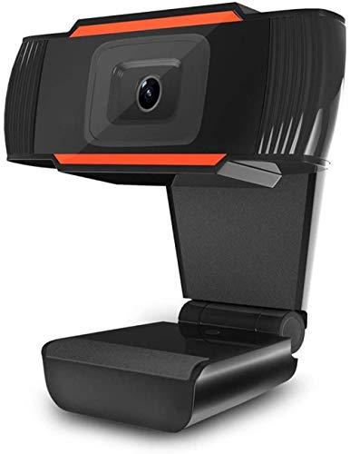 720P HD Cámara web con micrófono LED Computadora PC Portátil 12MP USB2.0 en el hogar Oficina Video Conferencia en línea Clase para Marido Niños Padre Monther (Negro)