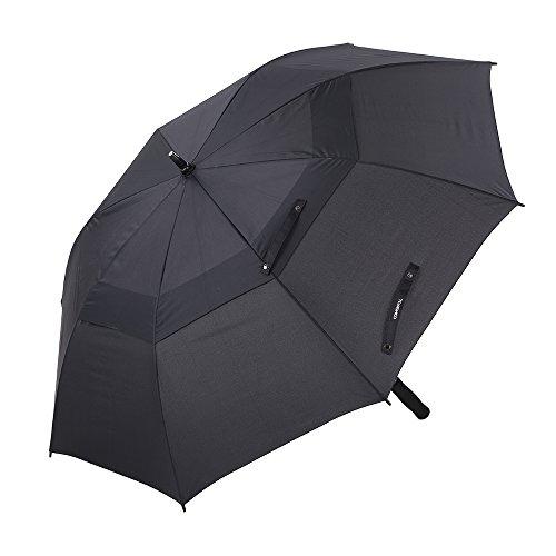 TOMSHOO Golfschirm, Regenschirm 61 Zoll Windfest für 2 Person im Freien, auf zu Automatik, Extra großen Windundurchlässiger Stockschirm für Frauen und Männer