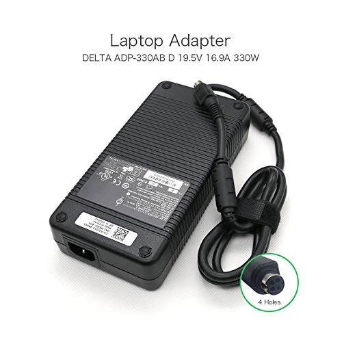 szhyon 19.5V 16.9A 4 Holes 330W Delta AC Adapter Charger compatible with MSI Desktop Trident3 Series Laptop ADP-330AB D