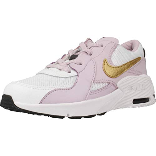 Nike Unisex-Kinder Air Max Excee (PS) Sneaker, White/Metallic Gold-Ice Lilac-Off Noir, 32 EU