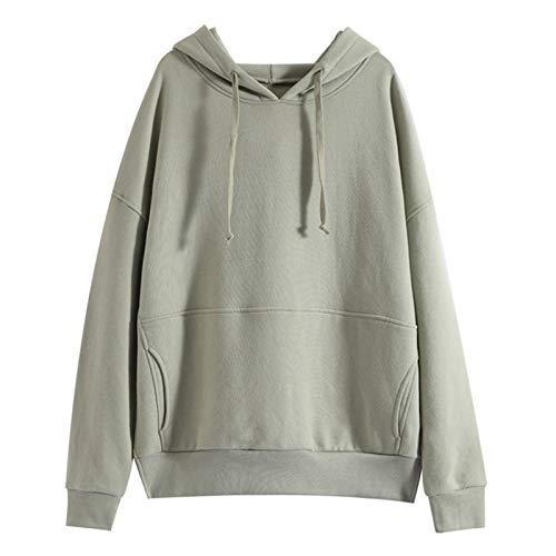 YTTde Sudadera con capucha de manga larga para hombre, color sólido, con capucha, de algodón puro, con bolsillos para deportes, uso diario, regalos