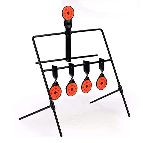 5-Plate Reset Shooting Target Spinner TargetTactical Metal Steel Slingshot for Marksmanship Training BB Gun Airsoft Paintball Archery Hunting