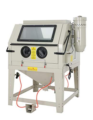 Pro-Lift-Montagetechnik Sandstrahlkabine 1200 Liter inkl. Zubehör, SB120AJ, mit Absaugung, 2 große Öffnungsklappen, 01580