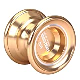 MAGIC YOYO N6 Aluminum Alloy Metal Professional Yo-Yo With 1 Gloves And 5 Strings Gold