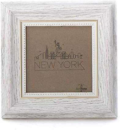 4x4 Picture Frame Square White Photo Frames by EcoHome product image