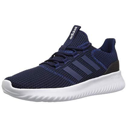 adidas Men's Cloudfoam Ultimate Running Shoe Dark Blue/Black, 7 M US