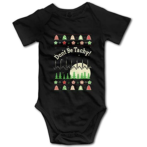 Promini Don't Be Tachy Christmas Baby Cotton Short Sleeve Onesies Bodysuit Jumpsuit, 12-18 Months, ZI11002