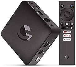 Engel EN1015K, Android TV Box 4K UHD, Asistente de Google Chromecast, Smart TV Box