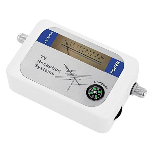 tellaLuna DVB-T Finder - Antenna digitale terrestre per antenna TV, misuratore di forza del segnale, colore: Bianco