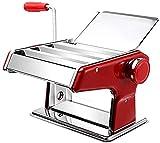 Máquina de Pasta para el hogar, pequeña máquina de prensado multifunción amasadora Manual de Acero Inoxidable Espaguetis lasaña o Pieles de Bola de Masa una mercancía de 19.3x13.5x17cm (