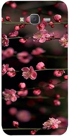 Casotec Pink Flowers Design Hard Back Case Cover for Samsung Galaxy J2