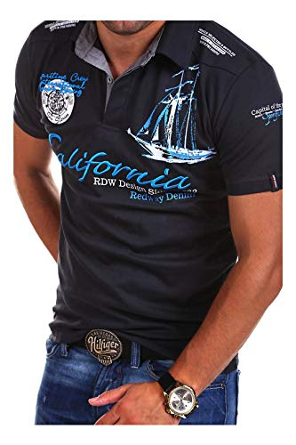MT Styles Poloshirt CALFOR T-Shirt R-2371 [Dunkelgrau, M]