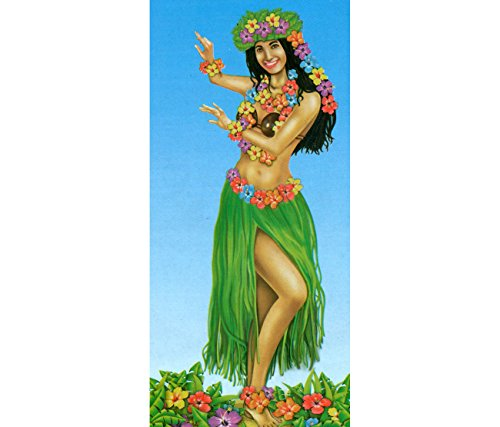 Baraldi Cotillons Decoro Hawaii Girl PVC Foil CM.152 X76