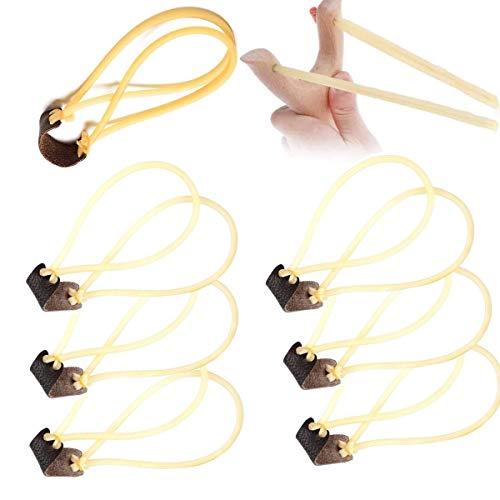 8 Piezas Tirachinas de Caza, Gomas para tirachinas 2 Tiras Gomas elasticas para tirachinas para Entretenimiento, Pesca, arborist Competición y Caza