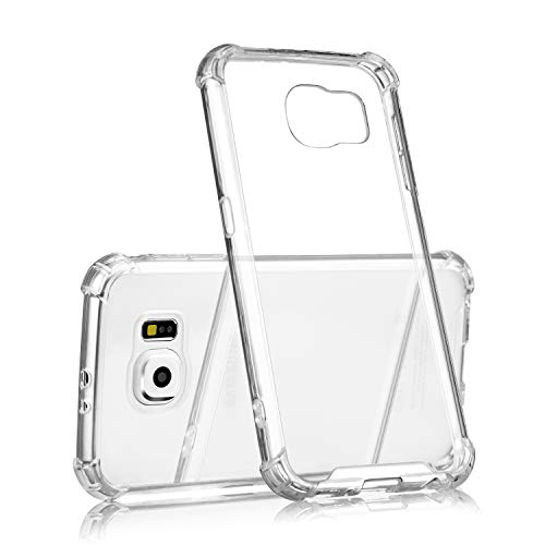 technext020 Galaxy S6 Clear Case, Galaxy S6 Case Silicone Protective Back Cover Slim Fit Samsung Galaxy S6 Bumper