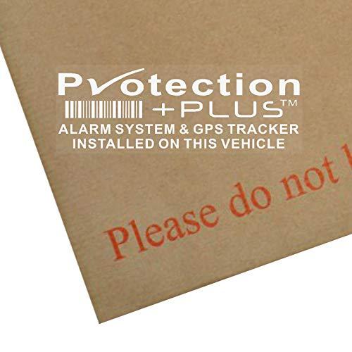 5 adhesivos de advertencia de seguridad de alarma y dispositivo de seguimiento GPS, 87 x 30mm, de Platinum Place