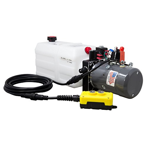 KTI Double Acting 12V Hydraulic Pump - 6 Quart