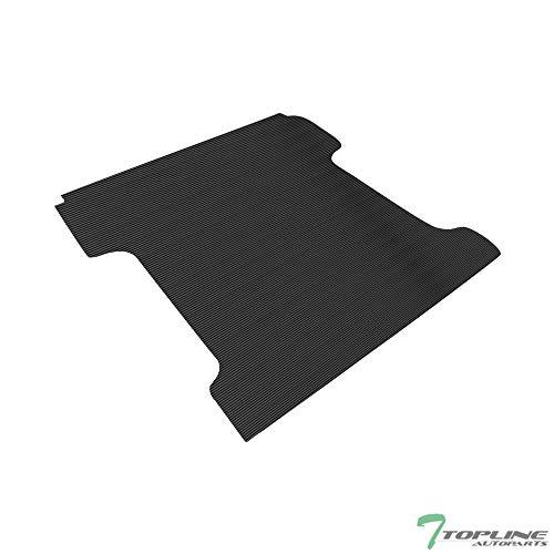 Topline Autopart Black Rubber Horizontal Line Truck Bed Floor Mat Liner v2 For...