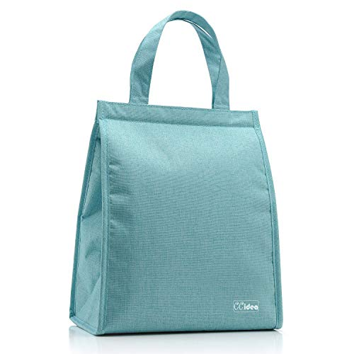 Lunch Bag For Men & Women, CCidea Simple Waterproof Insulated Large Adult Lunch Tote Bag (Tiffany Blue)
