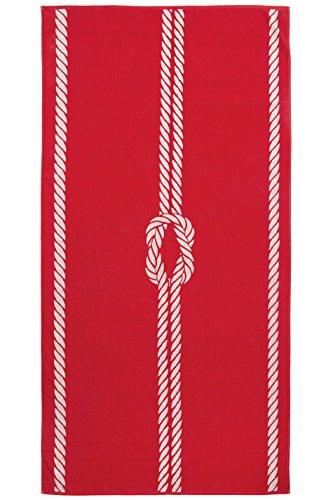 ZOLLNER Toalla de Playa Grande, 100x200 cm, algodón, roja, en Otros Colores