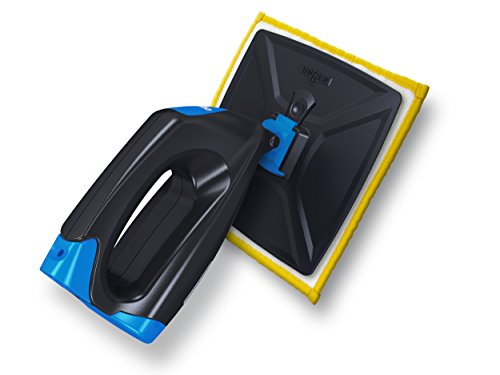 Unger 98800D Elektrischer Fenstersauger FENSTERPROFI | Sprühen, Reinigen und Trocknen in nur einem Arbeitsschritt | mit Mikrofaserpad und Glasreiniger | Streifenfrei | Inkl. Batterien, Schwarz