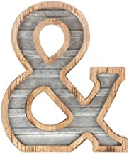 """XXL 14"""" Galvanized Metal and Wood Industrial Home and Business Wall Letters Monogram.."""
