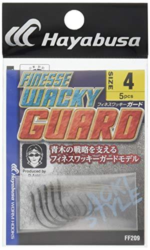 ハヤブサ(Hayabusa) シングルフック フィネス ワッキーガード 4号 5本 ストレートポイント FF209