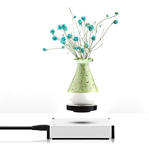 zjchao Plataforma levitación magnética y rotación Bandeja Flotante con luz LED soportar el Peso hasta 250g (9 Onza) (EU)