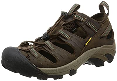 KEEN Men's Arroyo II Hiking Sandal,Slate Black/Bronze Green,8 M US