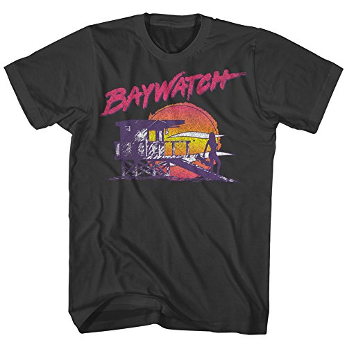 Baywatch Nightwatch Lifeguard Tower T-shirt for Men