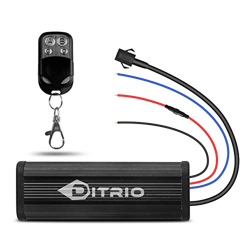 DITRIO Wireless Remote Controller & key fob chain Remote for 12V DC