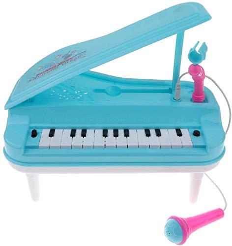 XINRUIBO Juguete de Piano de Teclado eléctrico de Mini simulación de 23 Teclas con micrófono Azul Piano Infantil