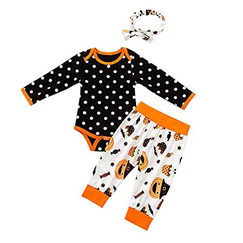 BIBOKAOKE Baby Langarm Strampler mit Buchstabendruck Romper Hose + Hut 3-teiliges Set Babykleidung Set Neugeborenes Kleinkind Baby Mädchen Bekleidungsset Outfit Bodysuit Kleidung Sets