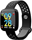 JSL Smart Watch 1 3 pulgadas pantalla a color grande Ip68 impermeable fitness pulsera sueño multi-deportes contador fitness Tracker desgaste diario/negro y rojo negro y gris