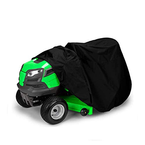 Lawn Mower Cover Waterproof Shade UV Tractor Covers for Yard Garden Furniture Motorcycle Quad Bikes GHHZZQ (Color : Black, Size : 256x110x120cm)