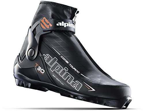 Alpina Sports T30 Touring Cross Country Nordic Ski Boots, Euro 43, Black/White/Red