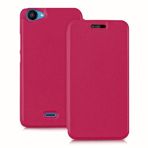 kwmobile Wiko Rainbow Jam Hülle - Handyhülle für Wiko Rainbow Jam - Pink - Handy Case Schutzhülle Klapphülle