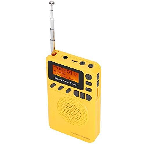 FOLOSAFENAR Radio de Bolsillo Digital con función MP3 Escaneo y Almacenamiento automático Inteligente Dab + Receptor de Radio FM Radio Digital Dab, para Tomar el autobús, para Hacer Senderismo