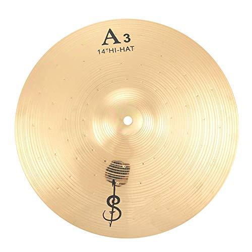 14 Zoll Becken für Schlagzeug, Metal Hihat-Becken Ersatzteile für Anfänger und Student Drummer