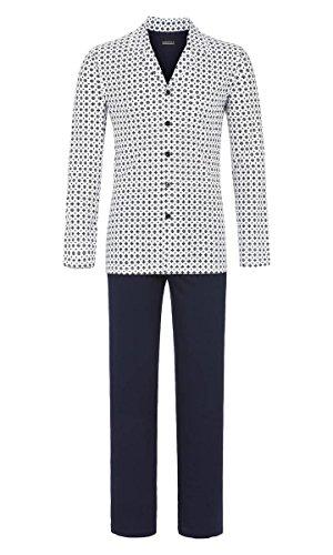 Ringella Herren Pyjama durchgeknöpft Off-White 54 9241232, Off-White, 54